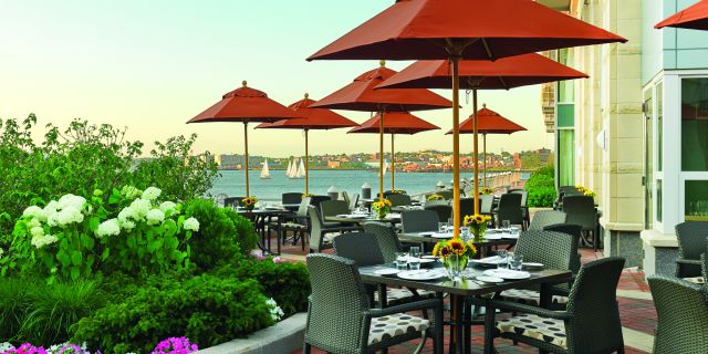Outdoor patio - Boston waterfront restaurant